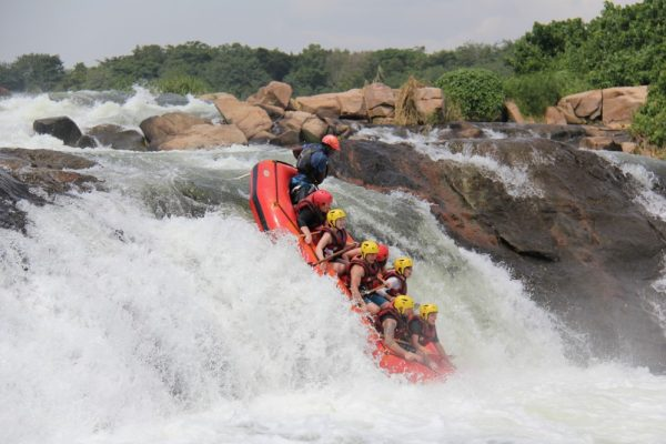 White water rafting on the River Nile